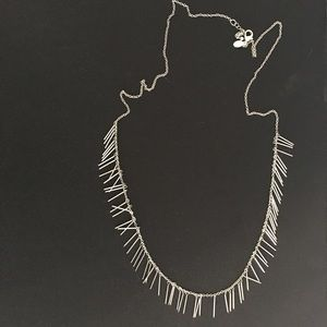 American Eagle silver tassel fringe necklace